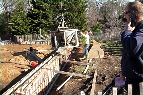 Pouring the Greenhouse Foundation