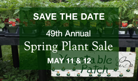Save-the-Date: 49th Annual Plant Sale, May 11 & 12, 2018