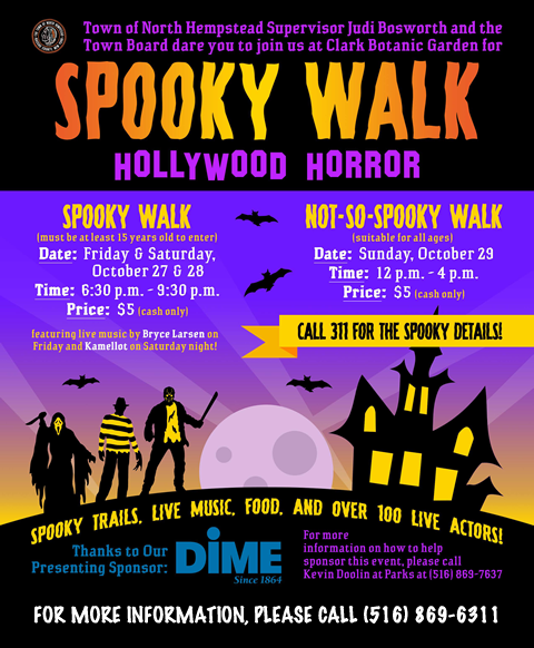 The Town of North Hempstead Presents Spooky Walk 2017, Hollywood Horror!