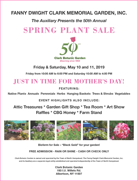 Click on banner to download the 50th Annual Spring Plant Sale flyer