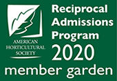 Reciprocal Admissions Program, American Horticultural Society 2020